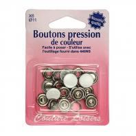 Boite de boutons couleur blanc