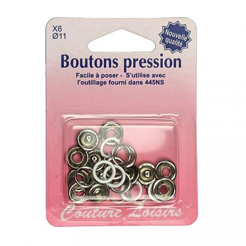 Recharge boutons pression invisible blanc x6