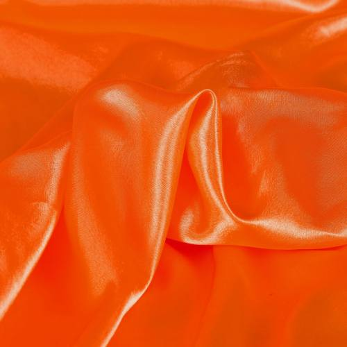 Satin uni orange 110cm