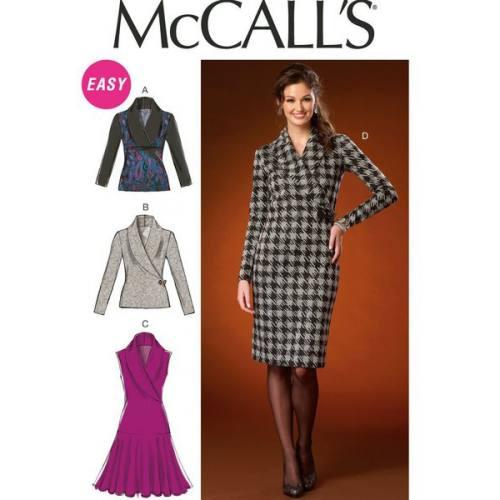 Patron Mc Call's M7016: Haut et Robe Taille:L-XXL