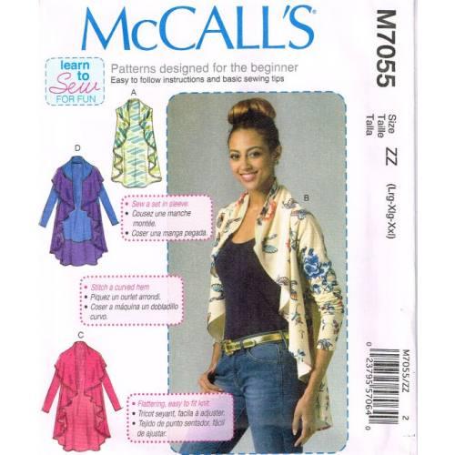 Patron Mc Call's M7055: Gilet et gardigan Taille: L-XXL