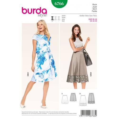 Patron N°6766 Burda style : Jupe Taille : 36-46