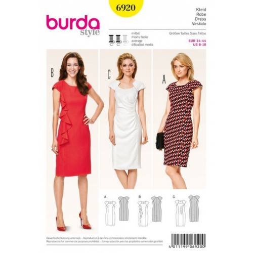 Patron N°6920 Burda Style : Robe Taille : 34-44