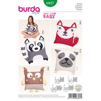 Patron N°6827 Burda Style : Coussins animaux