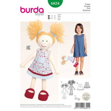 Patron N°6824 Burda Style : Poupée