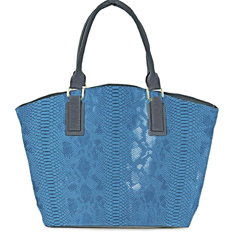 Simili cuir Dragon bleu