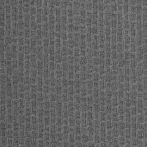Coton piqué nid d'abeille gris