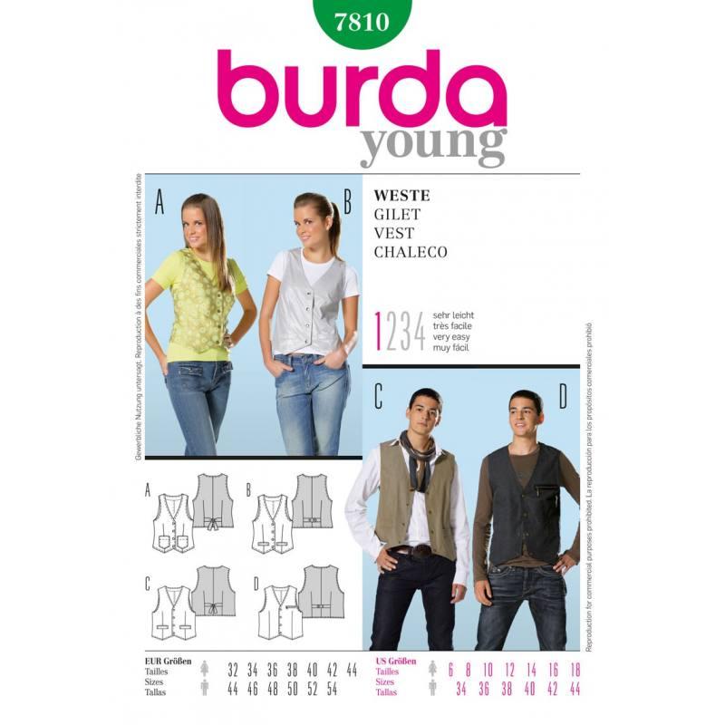 Patron N°7810 Burda style : Gilet