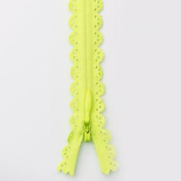 Fermeture dentelle vert fluo 22cm col804