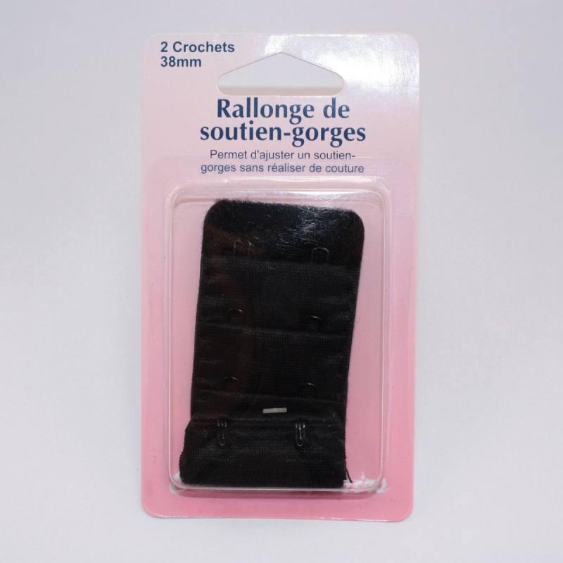 Rallonge de soutiens-gorge noire 38mm