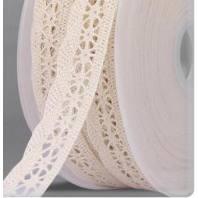 Ruban de dentelle coton écru 20mm