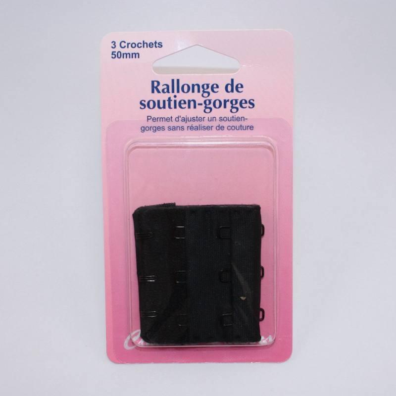 Rallonge de soutien-gorges noire 50mm