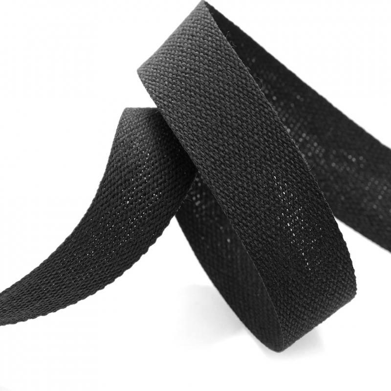 ruban coton noir 25 mm mercerie en ligne mercerie pas cher. Black Bedroom Furniture Sets. Home Design Ideas