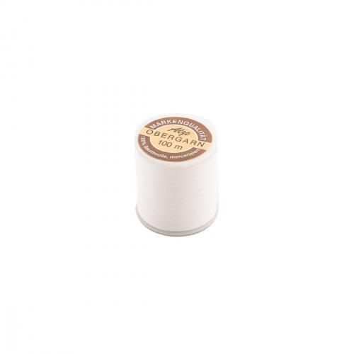 Fil coton blanc bobine de 100m