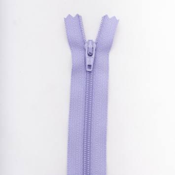 Fermeture 12 cm polyester non séparable violet Col 127