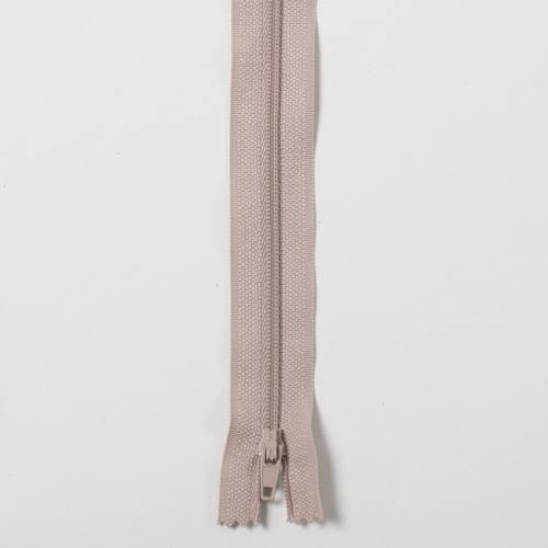 Fermeture 25cm Polyester non séparable beige 156