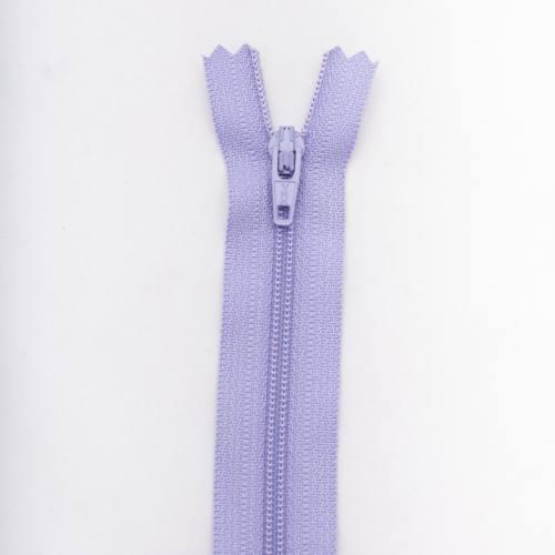 Fermeture 50 cm polyester non séparable violet Col 127
