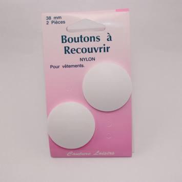 Boutons nylon N°38 à recouvrir X2