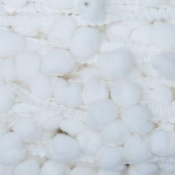 Galon pompon 15 mm blanc