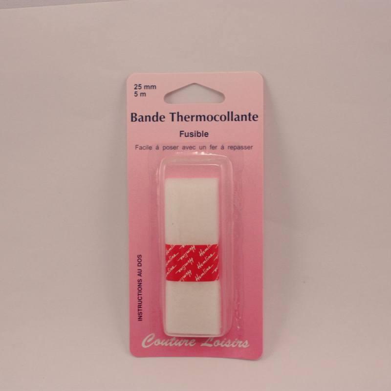 Bande thermocollante pour ourlets 5mètresx25mm