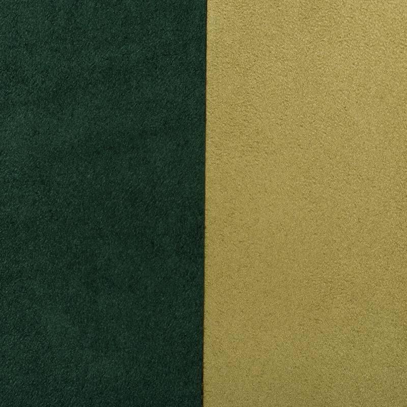 Suédine alaska réversible vert pomme/vert sapin