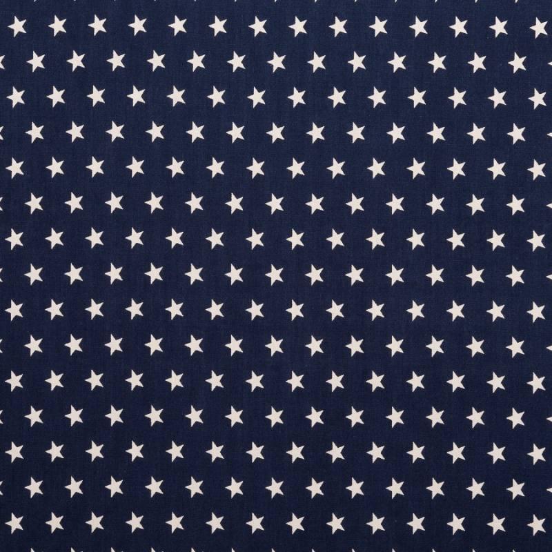 Coton bleu marine imprimé étoiles