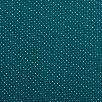 Coton bleu canard à petit pois 1mm