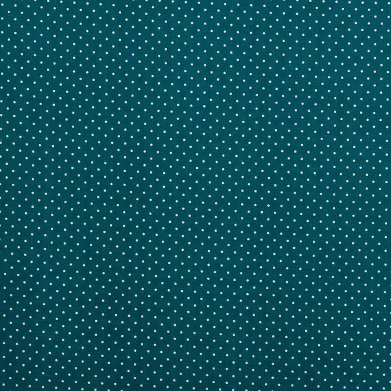coton bleu canard petit pois 1mm tissus price. Black Bedroom Furniture Sets. Home Design Ideas
