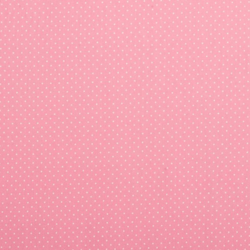 Coton rose à petit pois 1mm