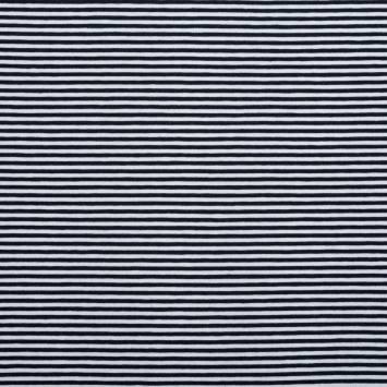 Jersey bleu marine et blanc rayures fines