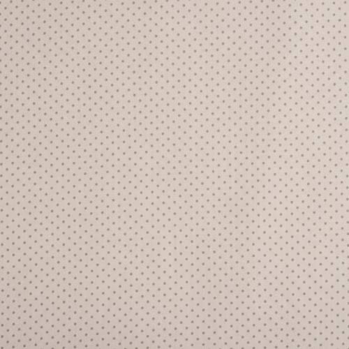 Coton beige à petit pois 1mm taupe
