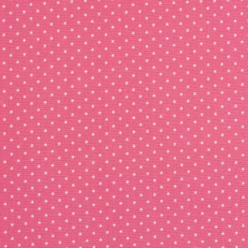 Coton fuchsia à petit pois 1mm rose pastel