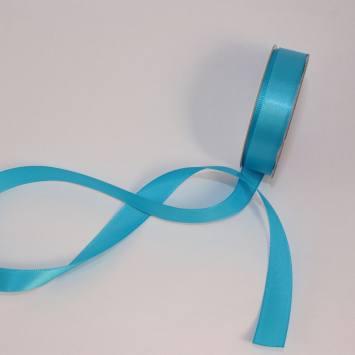 Ruban satin en bobine bleu céruléen 13 mm
