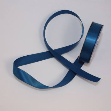 Ruban satin en bobine bleu marine 13 mm