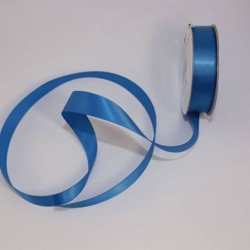 Ruban satin en bobine bleu lapis 13 mm