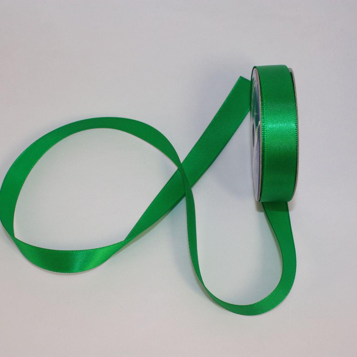 Ruban satin en bobine vert 13 mm