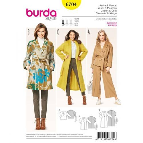 Patron Burda 6704 : Veste et manteau 36-52