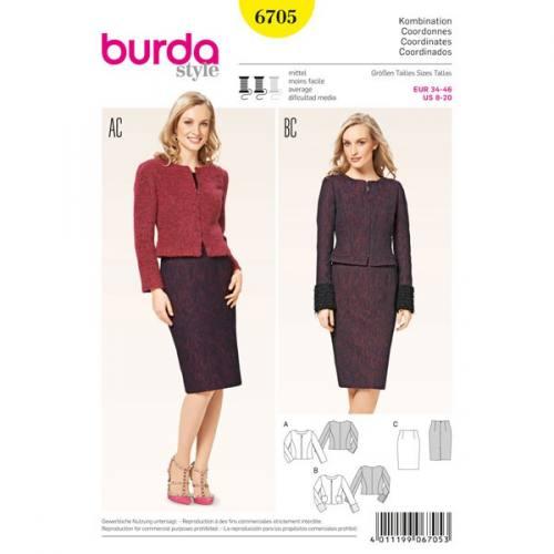 Patron Burda 6705 : Ensemble coordonnés 34-46