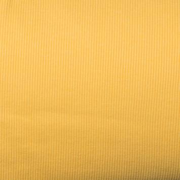 Tissu tubulaire bord-côte maille jaune