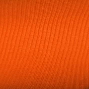 Tissu tubulaire bord-côte maille orange