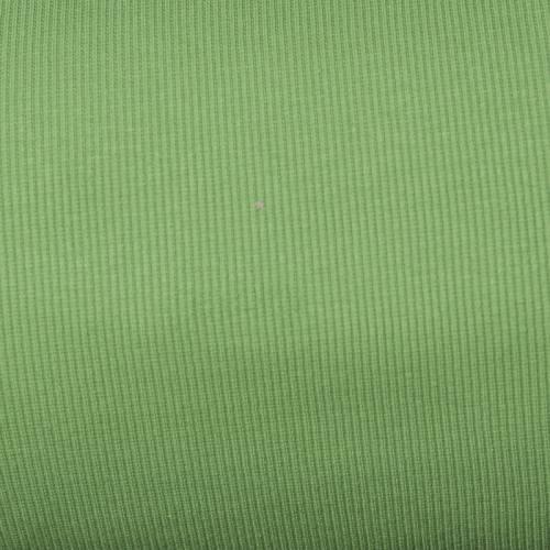 Tissu tubulaire bord-côte maille vert tilleul