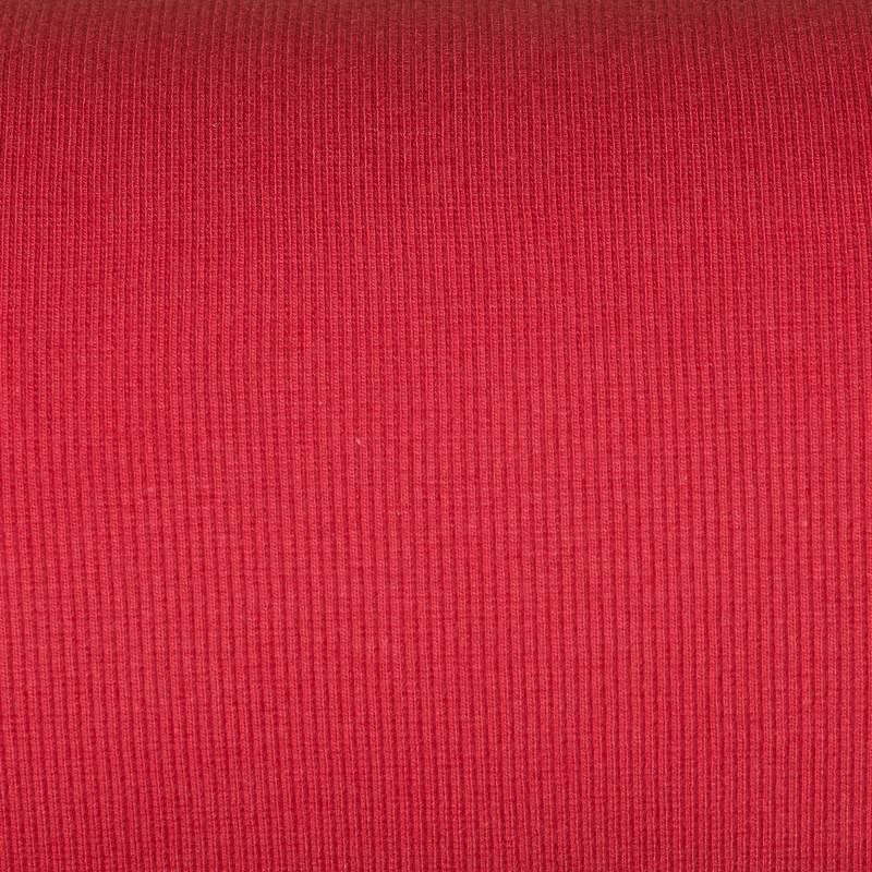 Tissu tubulaire bord-côte maille rouge