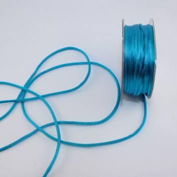 Cordelette en bobine bleu saphir 2 mm