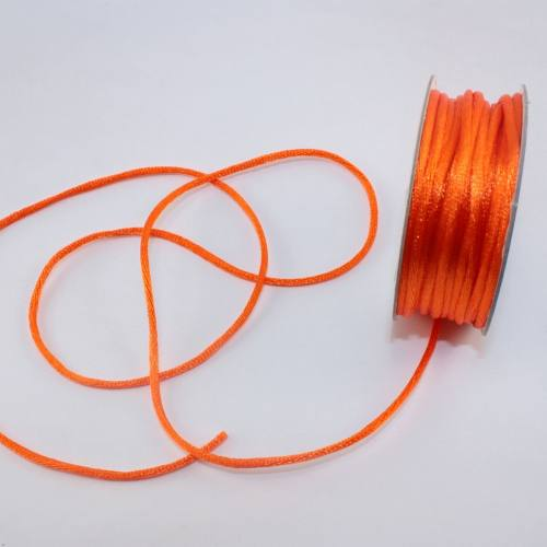 Cordelette en bobine orange sanguine 2 mm