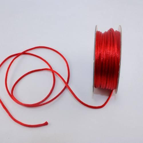 Cordelette en bobine rouge 2 mm