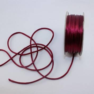 Cordelette en bobine bordeaux 2 mm