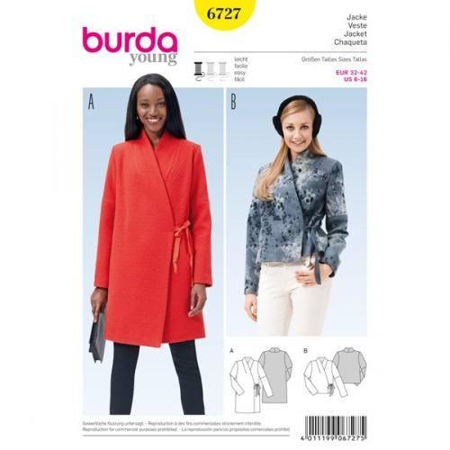 Patron Burda 6727 : Veste 32-42