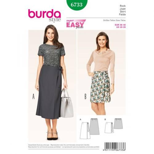 Patron Burda 6733 : Jupe 36-46