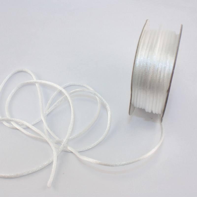 Cordelette en bobine blanc 2 mm