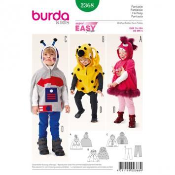 Patron Burda 2368 Carnaval : Déguisement fantaisie Taille 74-104 cm